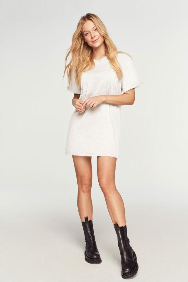 tshirt biały długi