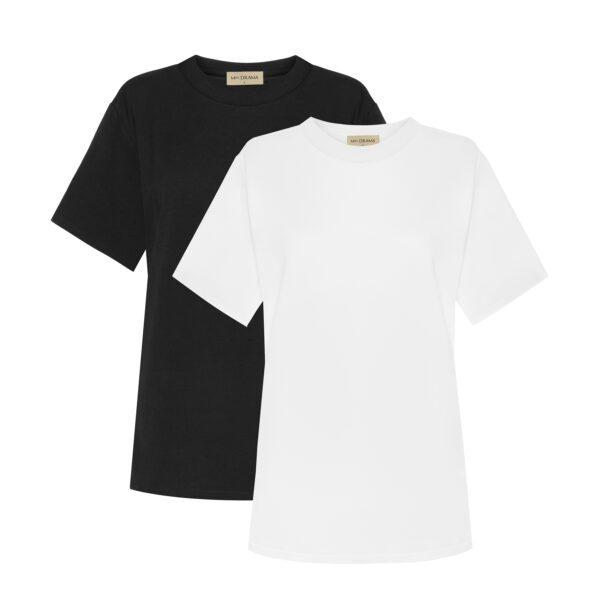 tshirt biały czarny przód