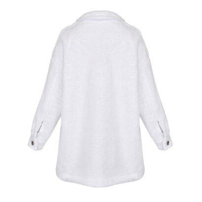 kurtka 1 biała tył
