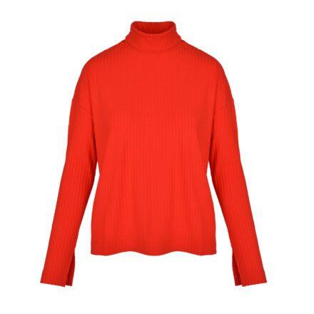 komplet czerwony sweter przód