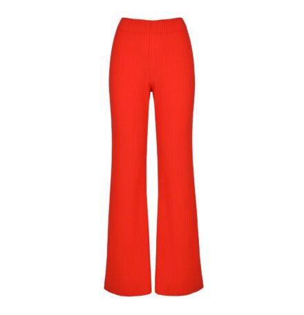 komplet czerwony spodnie przód