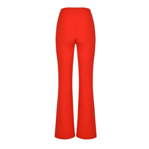 komplet czerwony spodnie tył