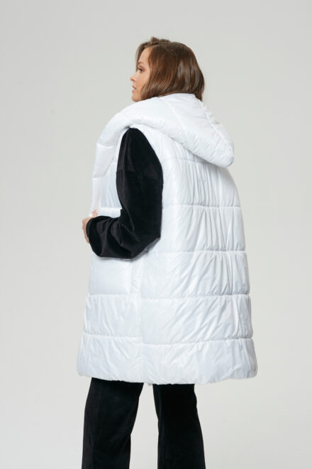 kurtka biała bezrękawnik