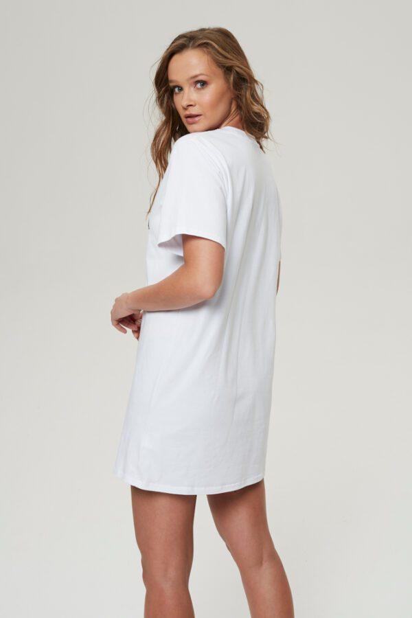 tshirt czasem dama czasem drama biały