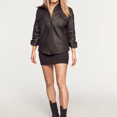 koszula woskowana czarna