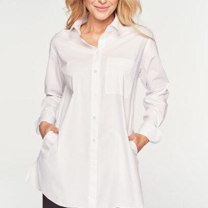 długa koszula biała