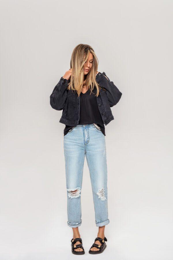 kurtka jeansowa czarna