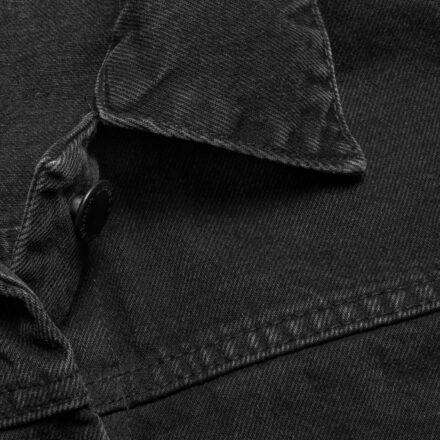 kurtka jeansowa czarna detal