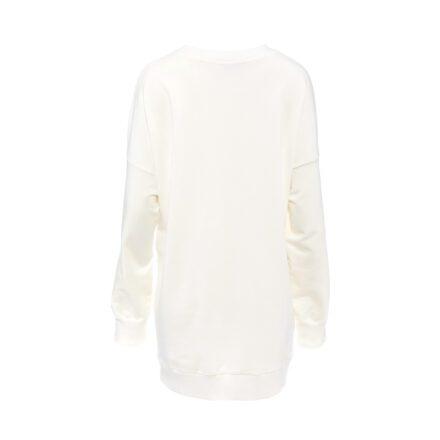 bluza 5 ecru długa z balonikiem tył
