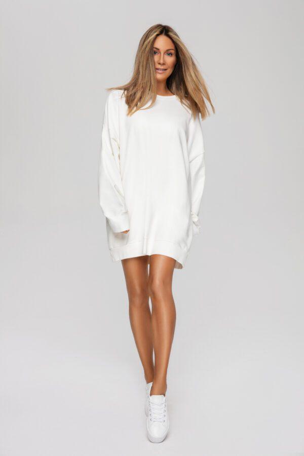 bluza długa biała