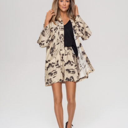 kimono szorty beżowe