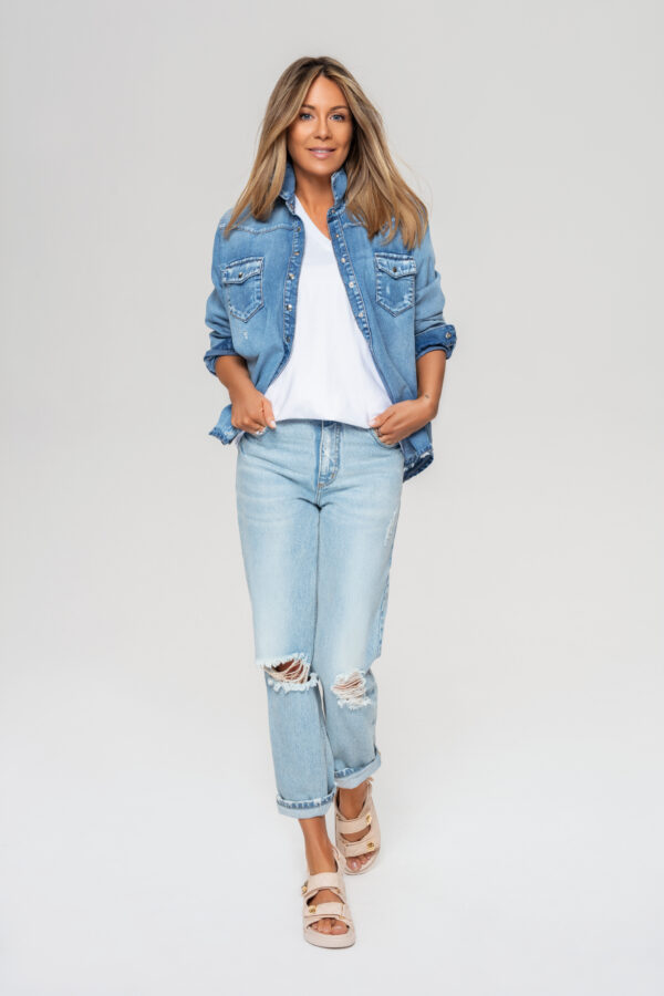 jeansy 1 długie