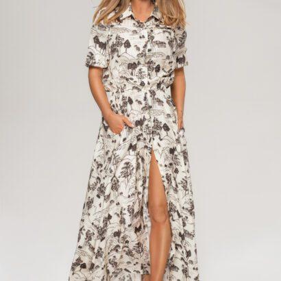 sukienka 1 długa rozpinana