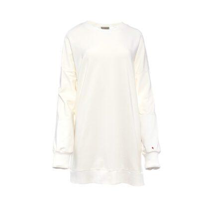 bluza 5 ecru długa z balonikiem przód
