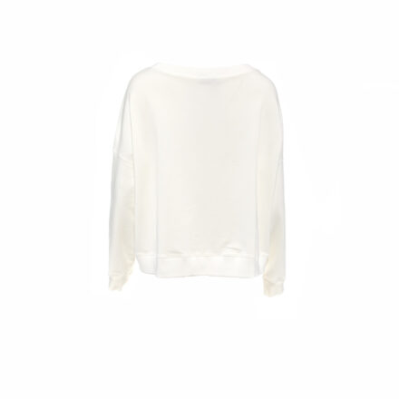 bluza 5 ecru z balonikiem tył