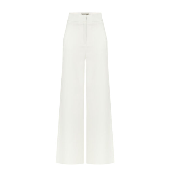 garnitur ecru ze spodniami spodnie
