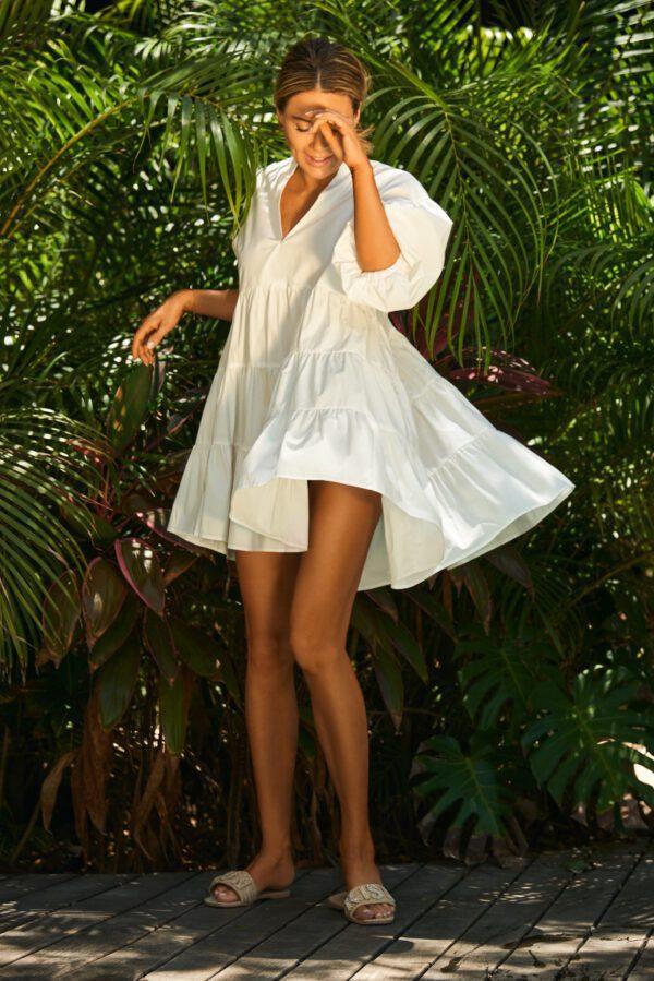 sukienka chmurka biała