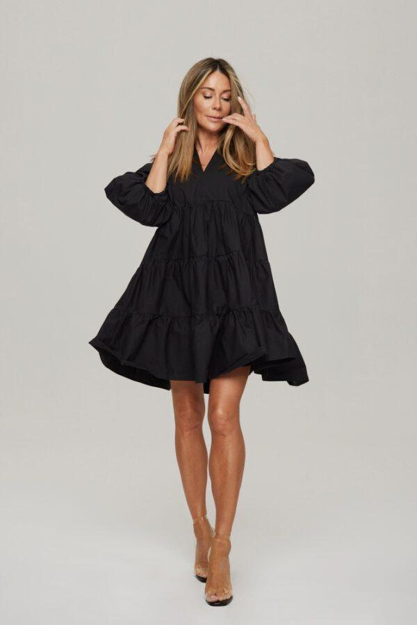 sukienka chmurka czarna