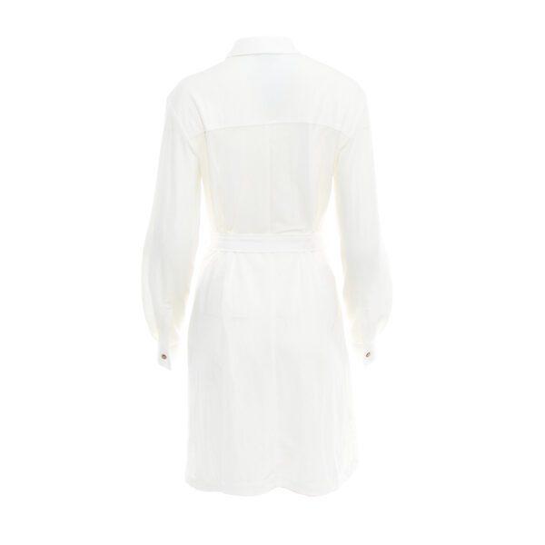 koszula długa biała tył