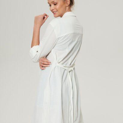 sukienka 5 biała długa