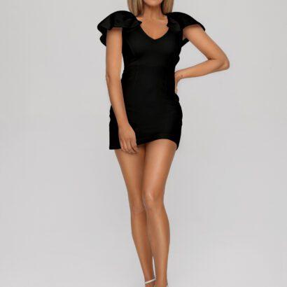 sukienka 4 krótka czarna