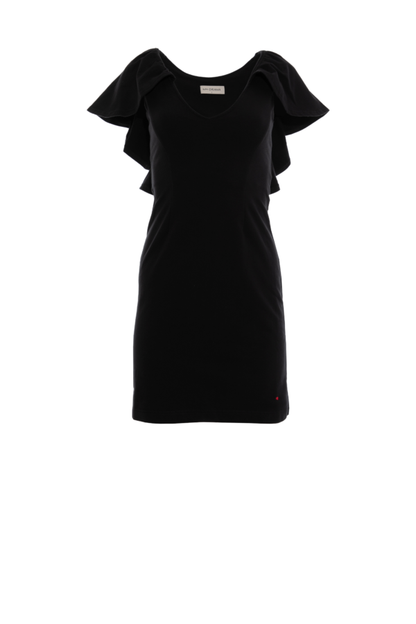 sukienka 4 krótka czarna przód