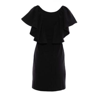 sukienka 4 krótka czarna tył