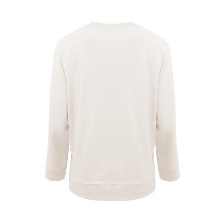 bluza ze spódnicą beżową tył