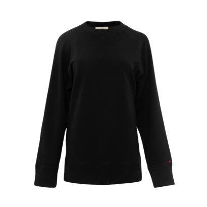 bluza ze spódnicą czarna bluza przód
