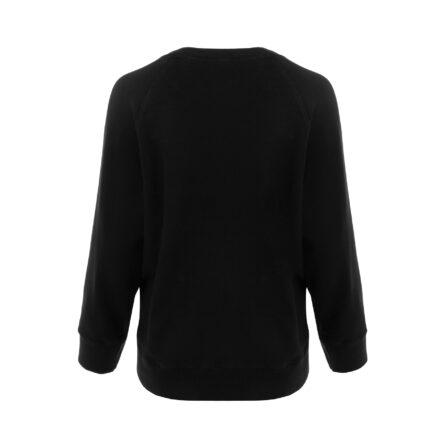 bluza ze spódnicą czarna bluza tył
