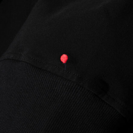 bluza ze spódnicą czarna detal