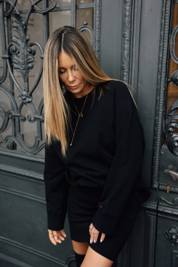 bluza ze spódnicą czarna