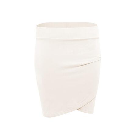 bluza ze spódnicą beżowa spodnica beżowa przód
