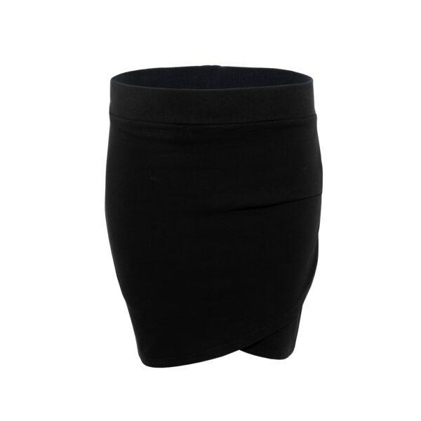 bluza ze spódnicą czarna spódnica przód