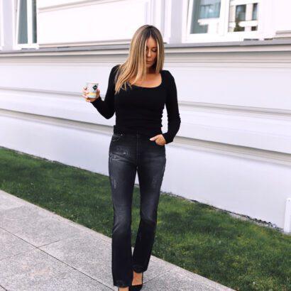 bluzka czarna