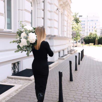 sukienka 7 długa czarna