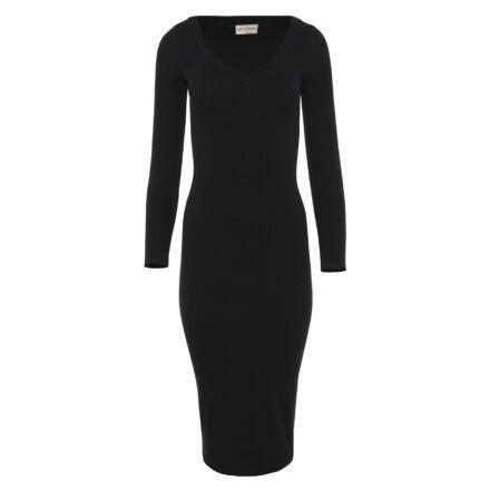 sukienka 7 długa czarna przód