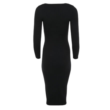 sukienka 7 dluga czarna tył