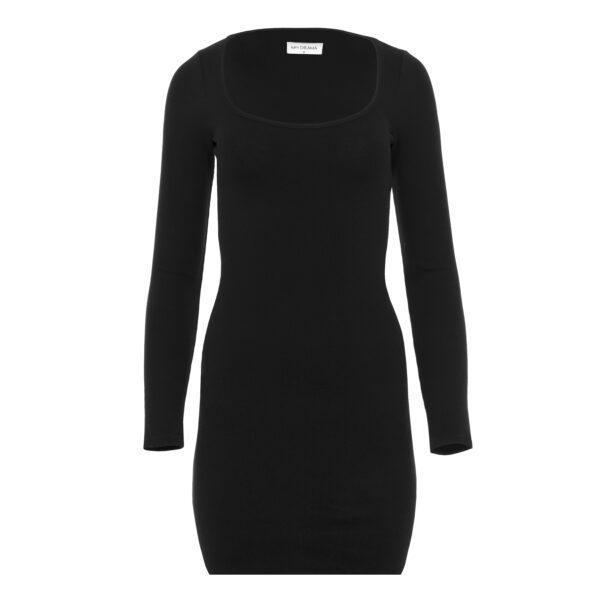 sukienka 6 krótka czarna przód