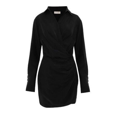 sukienka 8 czarna krótka przód