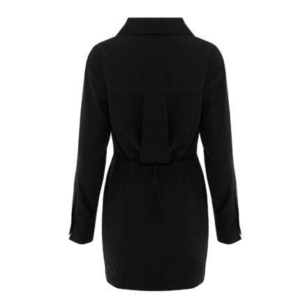 sukienka 8 czarna krótka tył