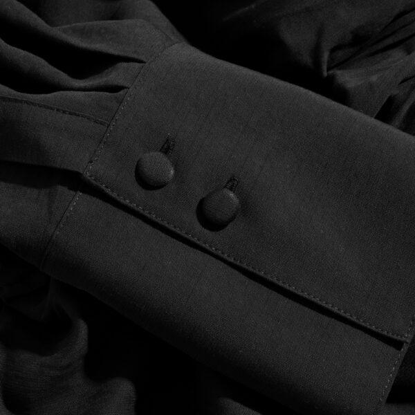 sukienka 8 czarna krótka detal